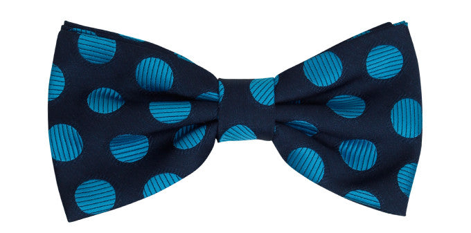 Bennett Stay Handsome Bow Tie in Navy - Ron Bennett Menswear