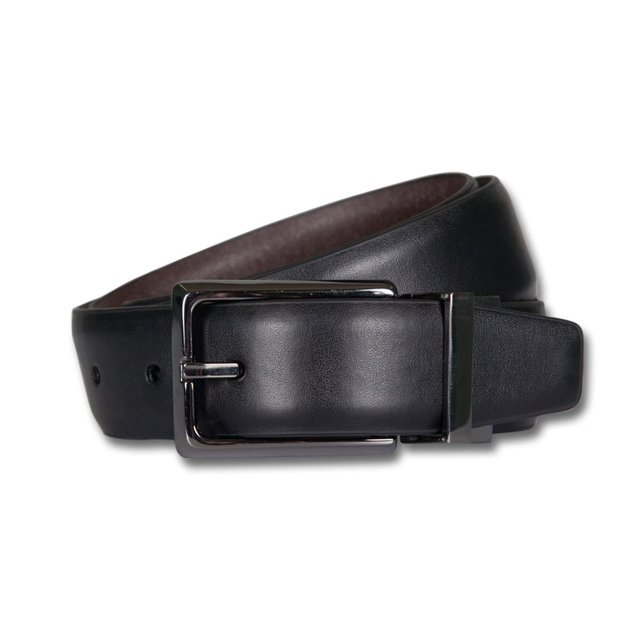 Ron Bennett Reversible Leather Belt in Black/Brown - Ron Bennett Menswear