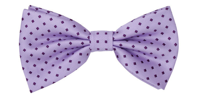 Ron Bennett Lilac Spotted Bow Tie in Lilac - Ron Bennett Menswear