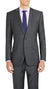 Studio Italia Cool Wool Suit in Charcoal