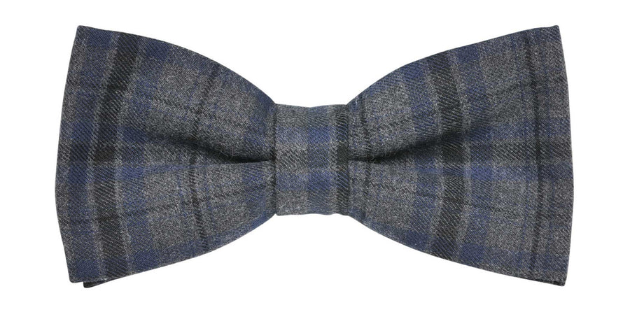 James Derby Italian made Brushed Bow Tie in Charcoal - Ron Bennett Menswear