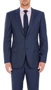 Daniel Hechter Pure Wool Suit in Birdseye Blue