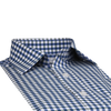 Bennett Signature Business Shirt in Blue / Grey Check - Ron Bennett Menswear  - 4