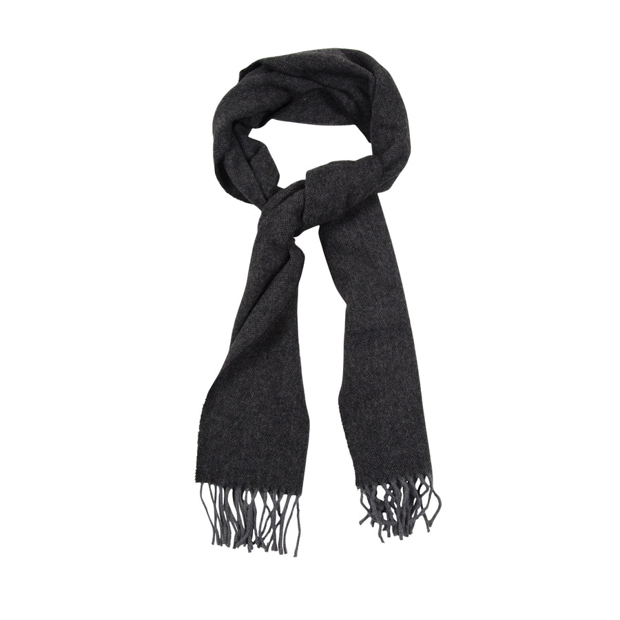 James Derby Italian made Scarf in Charcoal - Ron Bennett Menswear