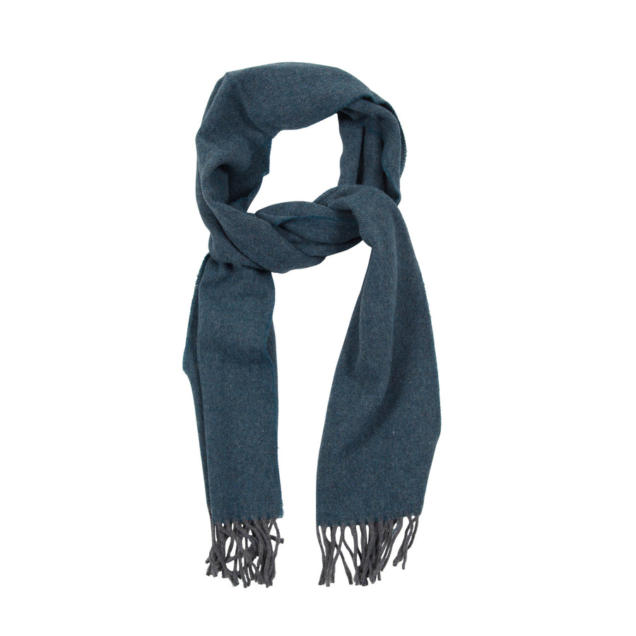 James Derby Italian made Scarf in Teal - Ron Bennett Menswear
