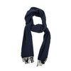 James Derby Italian made Scarf in Dark Blue - Ron Bennett Menswear