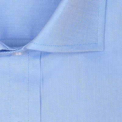 Bennett Signature Business Shirt with French Cuff in Sky - Ron Bennett Menswear  - 3