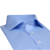Bennett Signature Business Shirt with French Cuff in Sky - Ron Bennett Menswear  - 4