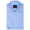Bennett Signature Business Shirt with French Cuff in Sky - Ron Bennett Menswear  - 1