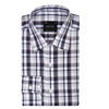 Bennett Signature Business Shirt in Navy Check - Ron Bennett Menswear  - 1