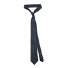 James Derby Silk Tie in Blue Black - Ron Bennett Menswear