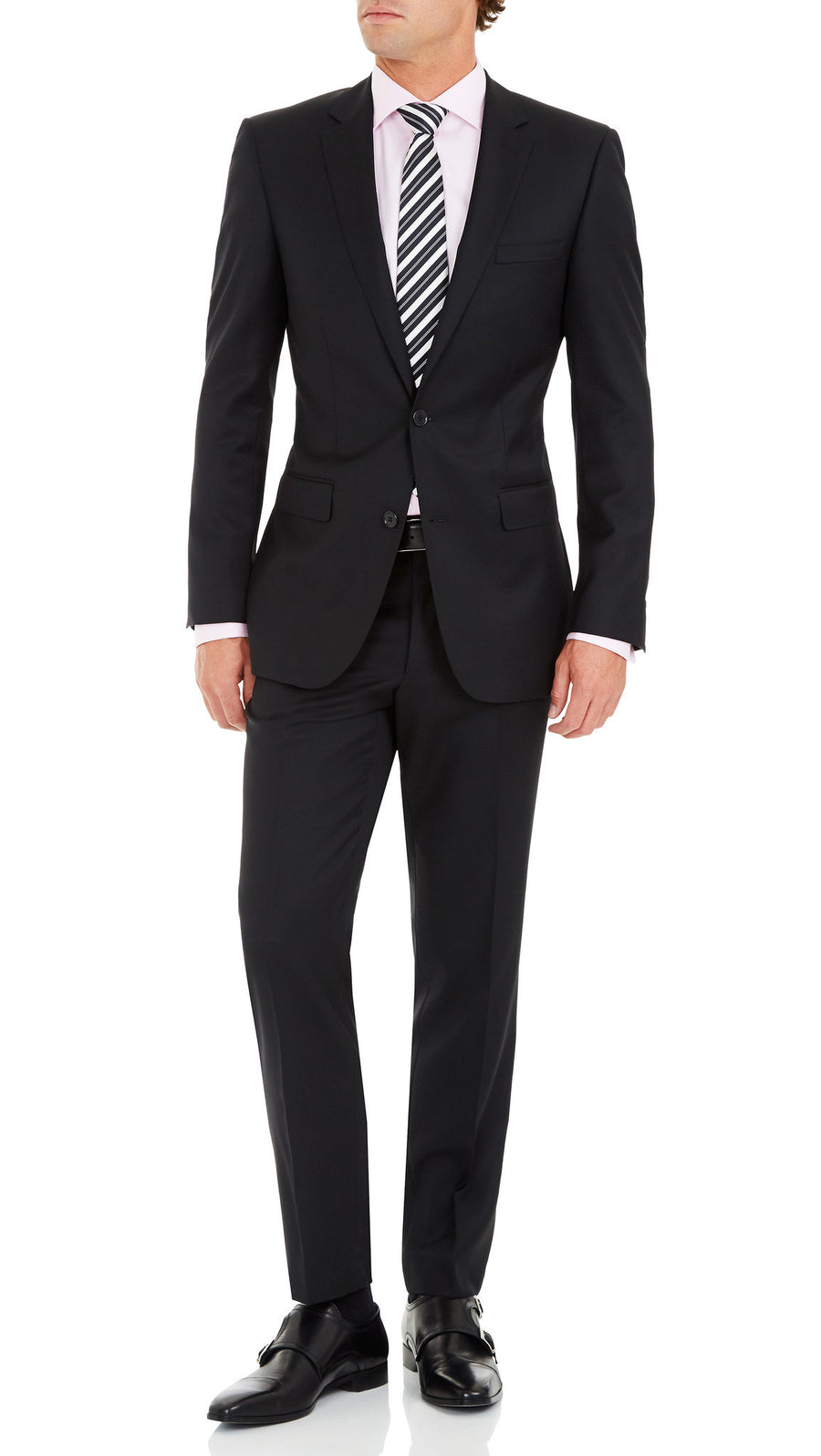 Studio Italia Icon Suit in Black - Ron Bennett Menswear  - 2