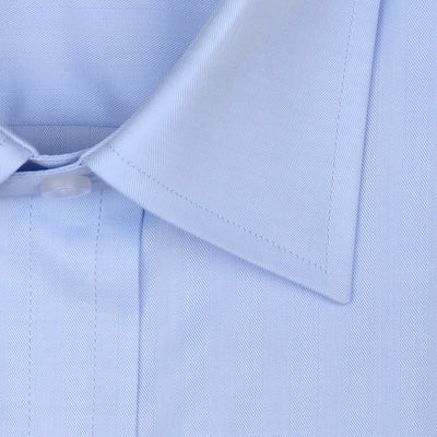 Bennett Signature Business Shirt in Sky - Ron Bennett Menswear  - 2