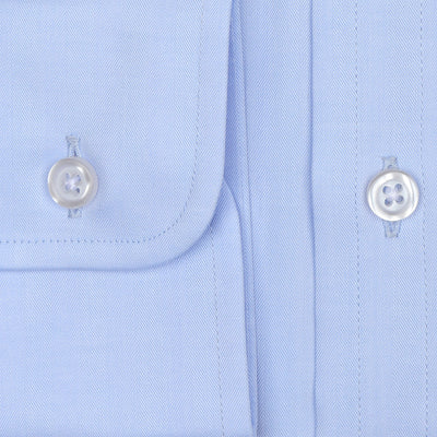 Bennett Signature Business Shirt in Sky - Ron Bennett Menswear  - 3