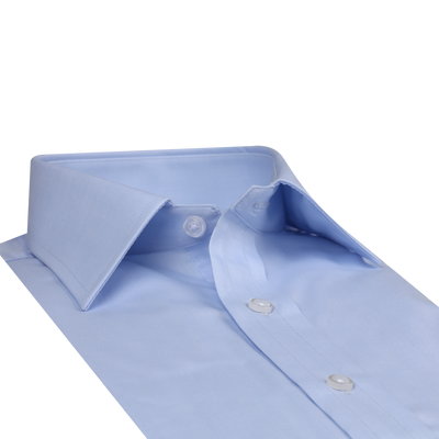 Bennett Signature Business Shirt in Sky - Ron Bennett Menswear  - 4