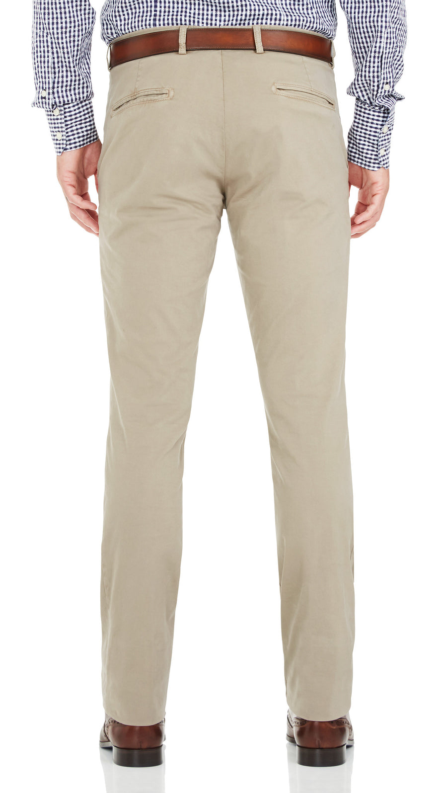 Bennett Cotton Chinos in Taupe