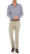 Bennett Cotton Chinos in Taupe - Ron Bennett Menswear  - 3