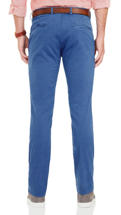 Bennett Cotton Chinos in Indigo - Ron Bennett Menswear  - 2