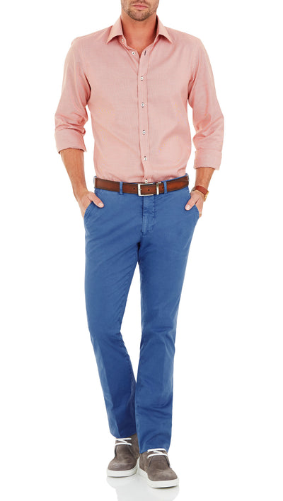 Bennett Cotton Chinos in Indigo - Ron Bennett Menswear  - 3