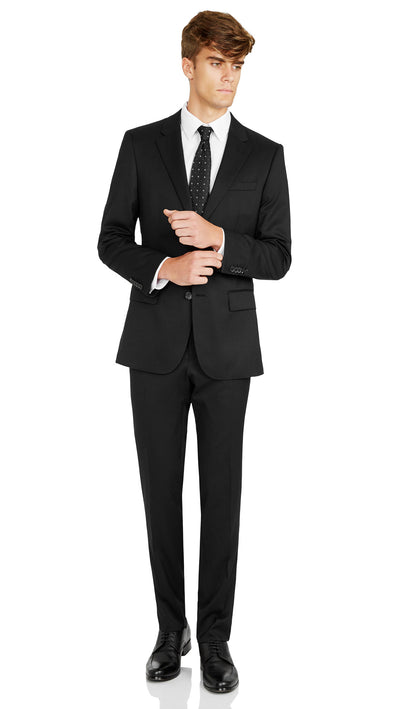 Nicholby & Harvard Slim Fit Suit in Black - Ron Bennett Menswear  - 2