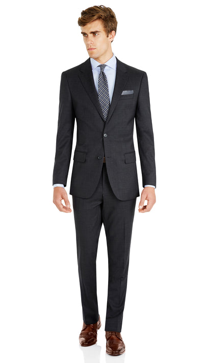Nicholby & Harvard Slim Fit Suit in Charcoal - Ron Bennett Menswear  - 9