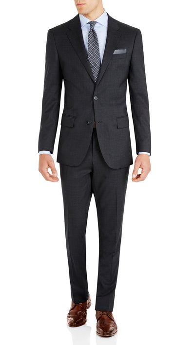 Nicholby & Harvard Slim Fit Suit in Charcoal - Ron Bennett Menswear  - 1