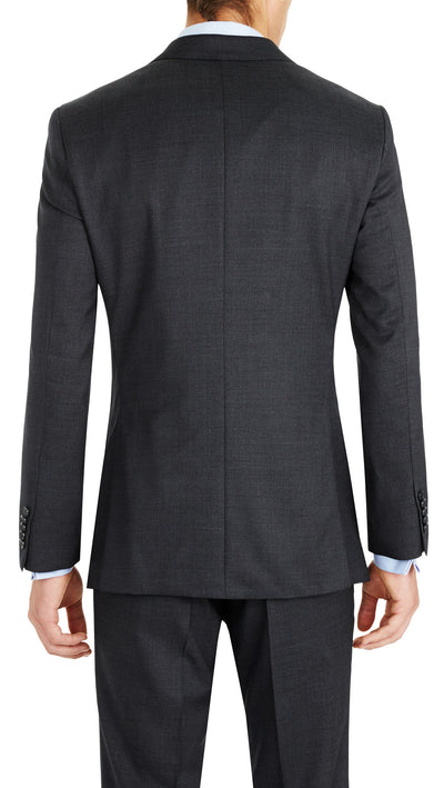 Nicholby & Harvard Slim Fit Suit in Charcoal - Ron Bennett Menswear  - 4