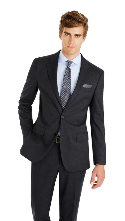 Nicholby & Harvard Slim Fit Suit in Charcoal - Ron Bennett Menswear  - 3