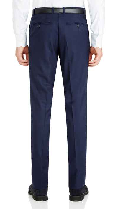 Nicholby & Harvard Dress Trousers in Blue - Ron Bennett Menswear  - 2