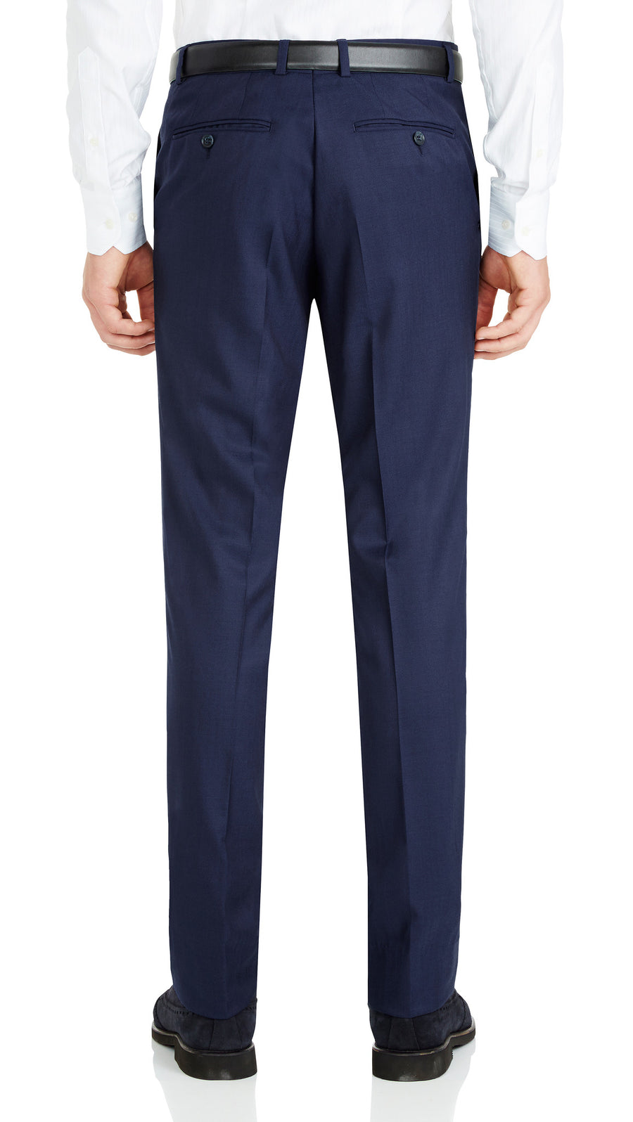 Nicholby & Harvard Dress Trousers in Blue - Ron Bennett Menswear  - 1