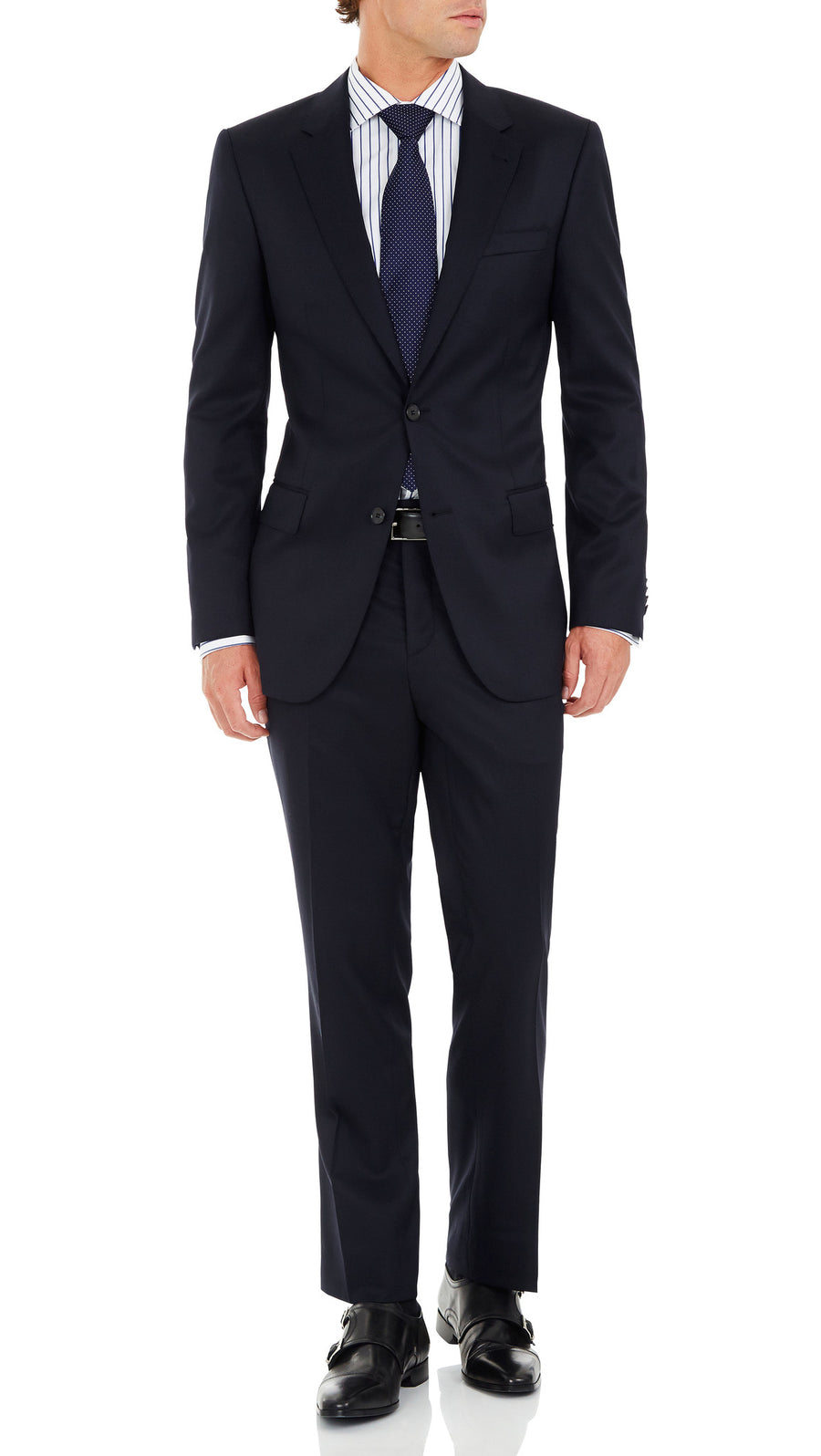 Nicholby & Hardvard Slim Fit Suit in Navy - Ron Bennett Menswear  - 3