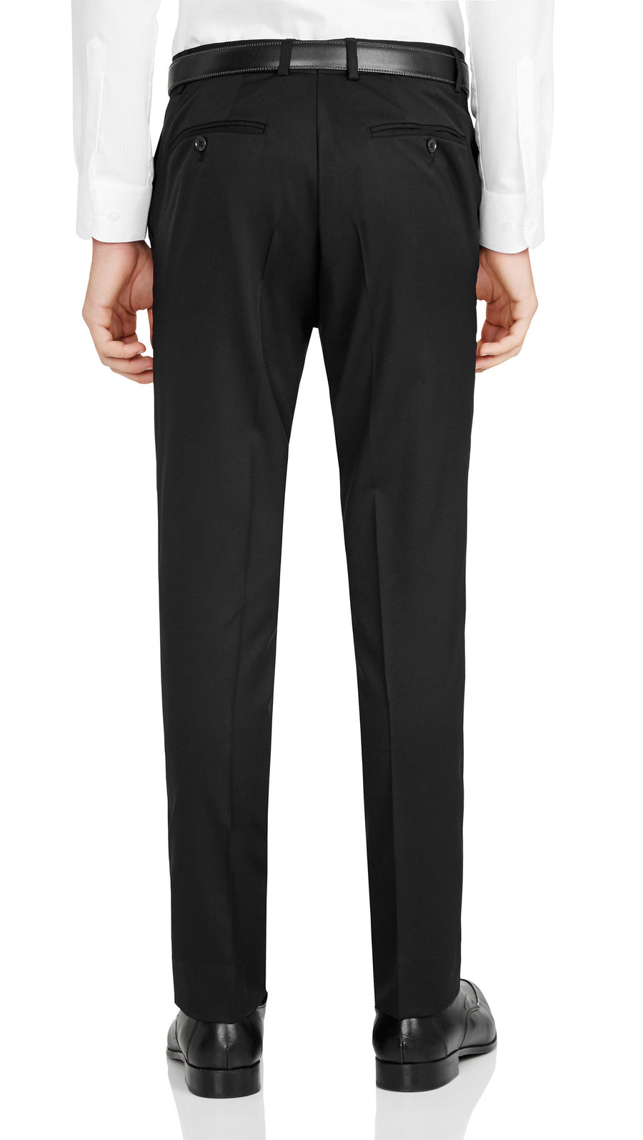Nicholby & Harvard Dress Trousers in Black - Ron Bennett Menswear  - 1