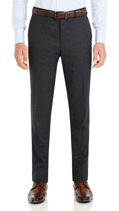 Nicholby & Harvard Dress Trousers in Charcoal - Ron Bennett Menswear  - 1