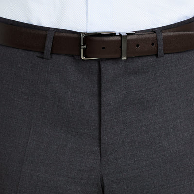 Nicholby & Harvard Dress Trousers in Charcoal - Ron Bennett Menswear  - 3