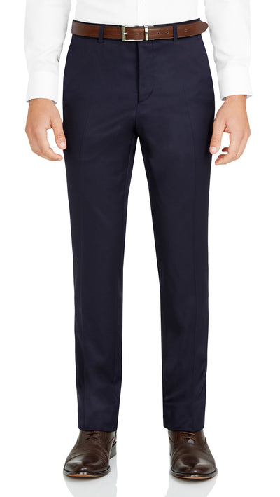 Nicholby & Harvard Dress Trousers in Navy - Ron Bennett Menswear  - 1