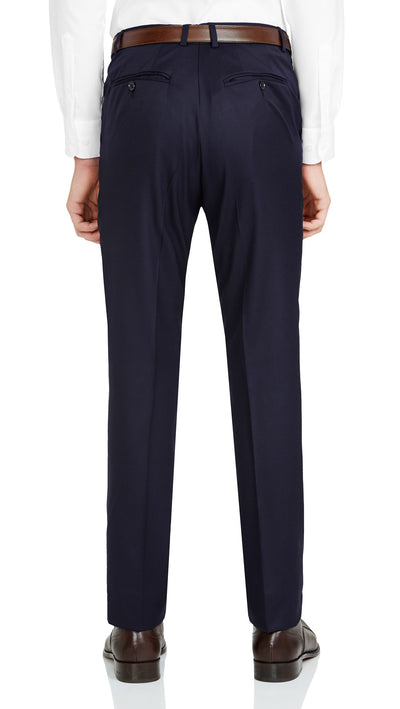 Nicholby & Harvard Dress Trousers in Navy - Ron Bennett Menswear  - 2