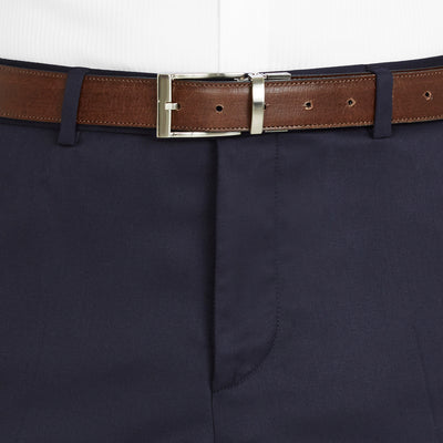 Nicholby & Harvard Dress Trousers in Navy - Ron Bennett Menswear  - 3
