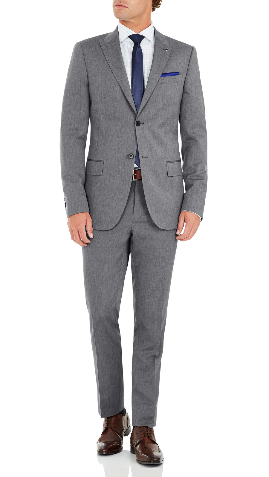 "Blackjacket ""Caprice"" Slim Fit Suit in Grey - Ron Bennett Menswear  - 3"
