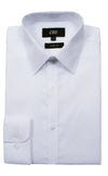 CEO Slim Fit Shirt in White - Ron Bennett Menswear