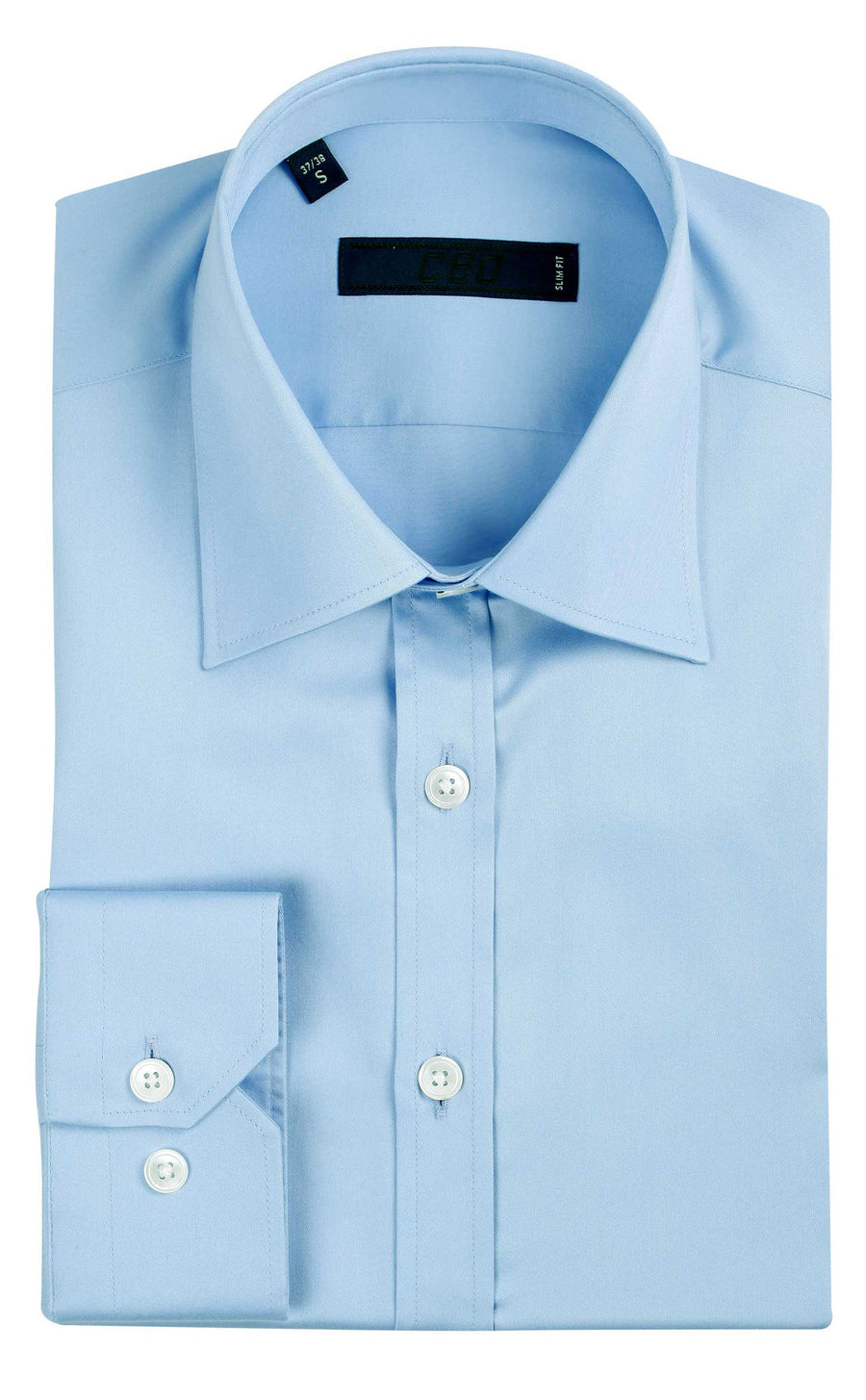 CEO Slim Fit Shirt in Blue - Ron Bennett Menswear