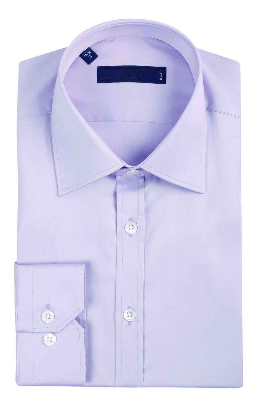 CEO Slim Fit Shirt in Lilac - Ron Bennett Menswear