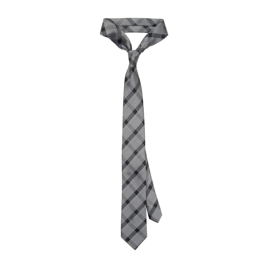 Bennett Signature Tie in Grey-Black