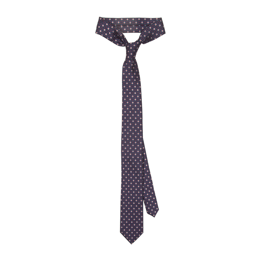 Bennett Signature Tie in Navy-Red - Ron Bennett Menswear
