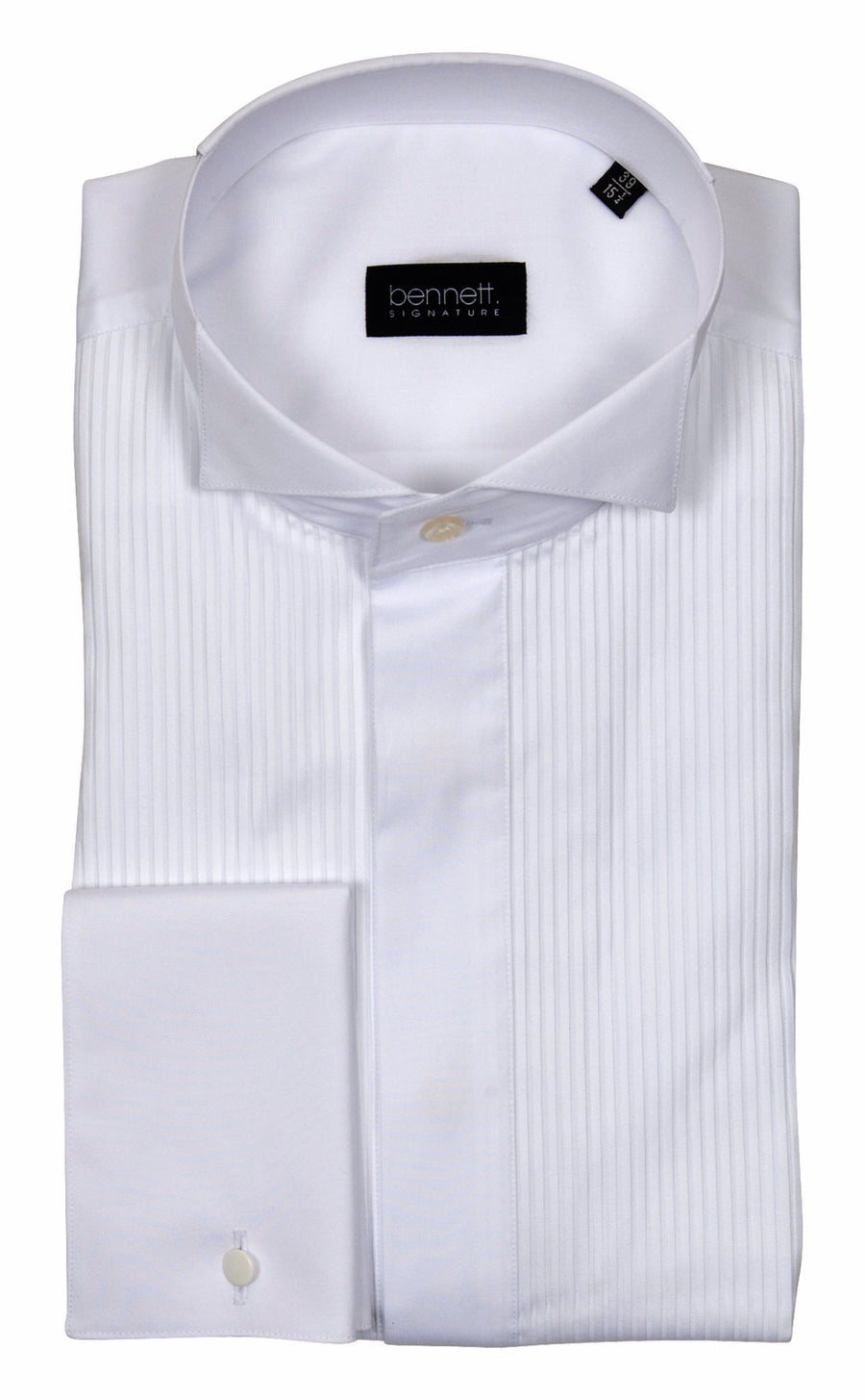 Bennett Signature Dinner Shirt Winged Collar in White - Ron Bennett Menswear