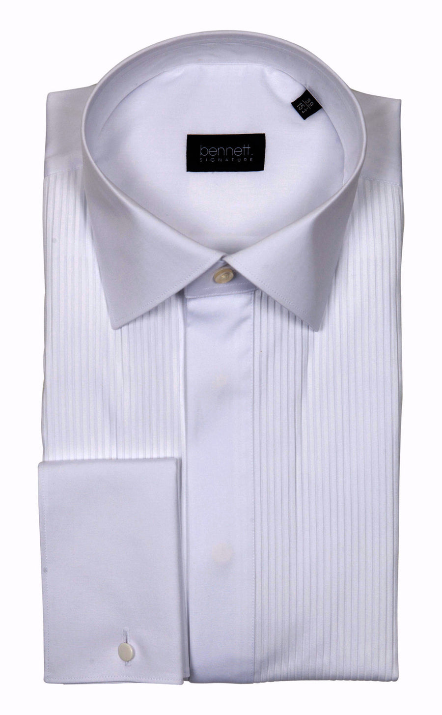 Bennett Signature Dinner Shirt Regular Collar in White - Ron Bennett Menswear