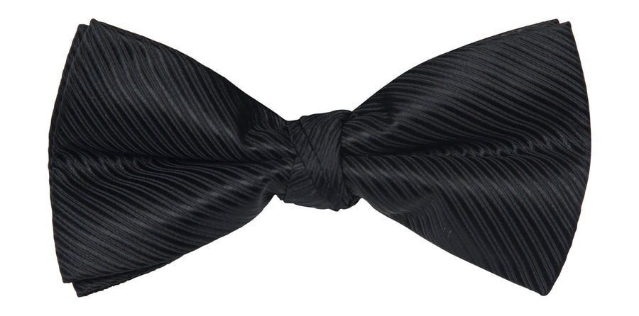 Bennett Stay Handsome Bow Tie in Black - Ron Bennett Menswear