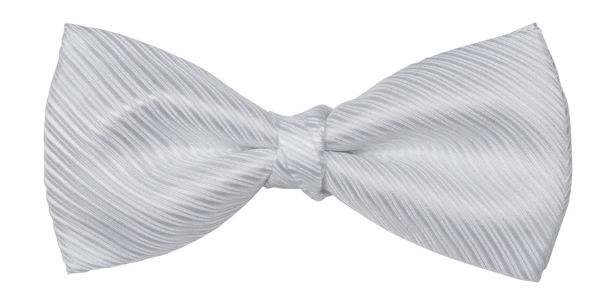 Bennett Stay Handsome Bow Tie in White Twill - Ron Bennett Menswear