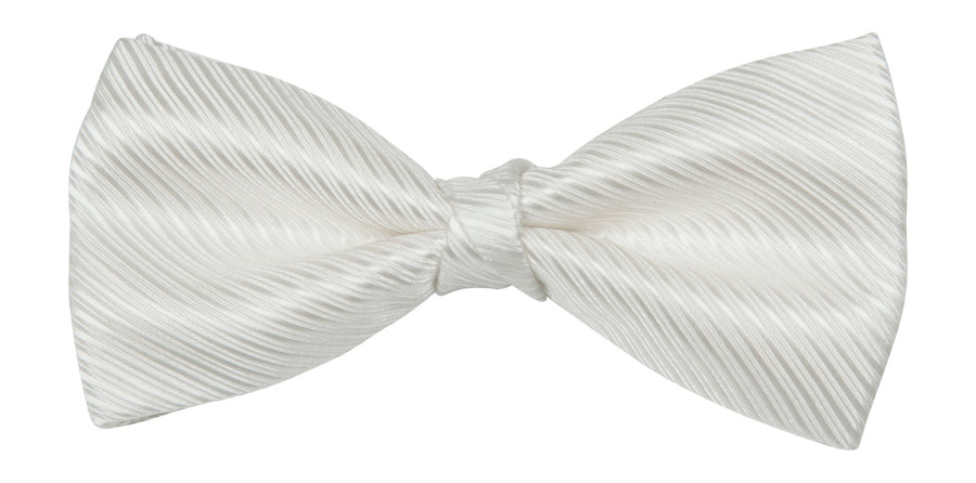 Bennett Stay Handsome Bow Tie in Ivory - Ron Bennett Menswear