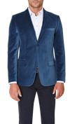 Blackjacket Italian Cotton Velvet Jacket in Teal - Ron Bennett Menswear  - 3