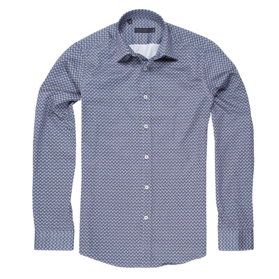 CEO Slim Fit Shirt in Royal - Ron Bennett Menswear  - 1